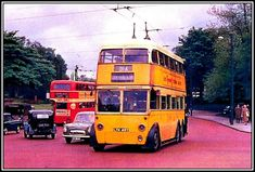 Photographs: Newcastle upon Tyne: Trolley Buses - Google Search Newcastle England, Durham City, Buses And Trains, Great North, North East England, Double Decker Bus, Bus Coach, London Transport, Images Google