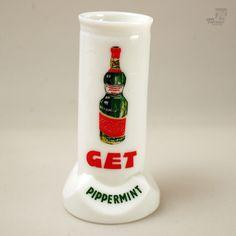 1960's Vintage GET PIPPERMINT Halter / Display / FRANCE / Peppermint / Pub in Sammeln & Seltenes, Reklame & Werbung, Branchen & Marken | eBay