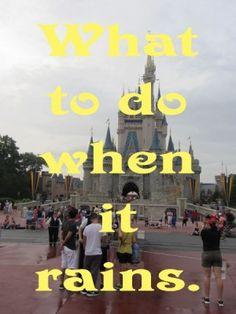 What to do When it Rains at Walt #Disney World