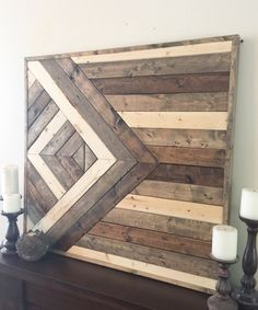 Reclaimed wood wall art wooden wall decor by NorthernOaksDecorCo