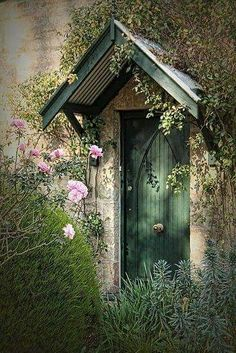 flower covered doorway