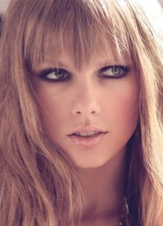 Taylor Swift Marie Claire photoshoot. Smokey eyes and nude lips