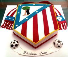 La Tarta de los Campeones (Aupa Atleti) 2 | De Perla's | Tartas fondant personalizadas en Málaga
