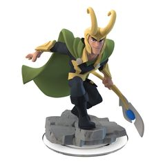 Product Features Join the battle with the The Avengers and a host of other Marvel Super Heroes in Disney Infinity: Marvel Super Heroes (2.0 Edition) (not included) with this Loki figure Use Loki's mag