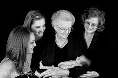 Four generations. newborn portaits. family photos