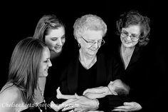 Four generations. newborn portaits. family photos