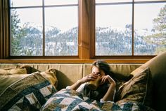 Cozy in the cabin in the mountain.