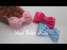 Laço Simples pra iniciante Janaína Gonçalves - YouTube Diy Hair Bows, Baby Bows, How To Make Bows, Stone Painting, Diy Hairstyles, Diy And Crafts, Ribbon, Hair Accessories, Knitting