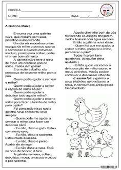 SOS PROFESSOR-ATIVIDADES: A Galinha Ruiva