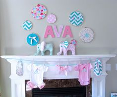 The Modest Homestead: Elephant's on Parade Baby Shower