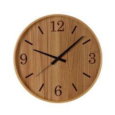 Wooden clock.