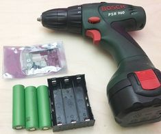 Drill/ screwdriver battery rebuild to Lithium using battery holder for 18650 cells (so no spot welding needed) and BMS. After rebuild original charger can be used. Essential Woodworking Tools, Antique Woodworking Tools, Woodworking Quotes, Woodworking For Kids, Woodworking Jigs, Woodworking Furniture, Woodworking Projects, Woodworking Blueprints, Woodworking Beginner