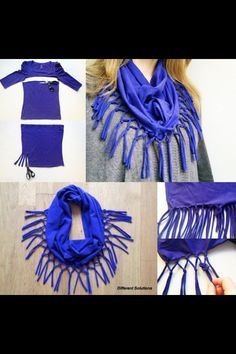 T-shirt scarf DIY (just a picture, no link)