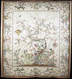Chinese painted silk coverlet, in the Victoria and Albert Museum, London, inv. © V&A Images