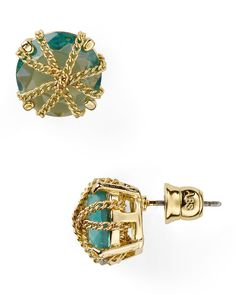 ABS by Allen Schwartz Tropic Traveler Chain Wrap Stud Earrings | Bloomingdale's