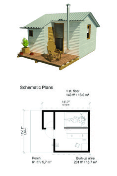 Compact Cabin Plans - Pin-Up Houses- Tiny Home, Granny Pods, Backyard Sheds cottages Tiny Cabin Plans, Cabin Floor Plans, Tiny House Cabin, Small House Layout, Small House Design, House Layouts, Micro House Plans, Small House Plans, Backyard Cottage