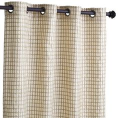 Mmm, waffles. Made of light, gauzy polyester, each grommet-top curtain features an all-over embroidered windowpane pattern. A feast for the eyes. Pick up a short stack at your nearest Pier 1.