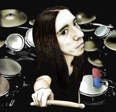 Me on my Drum Set as a cartoon #drummer #drums #drumlife #drumporn #drumming #goth #tattoos #piercing #inked #dark #gothic #man #tattooed #musician #metalhead #metalguy #guyswithlonghair #longhairedguys #longhairedmen #baterista #metaldrummer #bateria #rock #metal #vampire  #tattoo #blackmetal #forest #animation #cartoon by gerardoruizdrummer