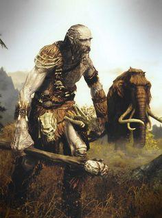 Skyrim giant and mammoth