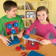 Build all 5 simple machines at once in physical science centers.