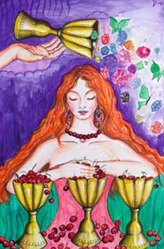 Four of Cups from The Clover Tarot