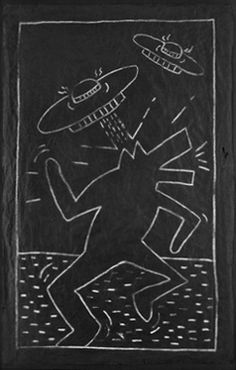 Keith Haring, Barking Dog and Space Ships, 1982