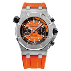 Audemars Piguet [NEW] Royal Oak Offshore Diver Chronograph 42mm Orange Dial 26703ST.OO.A070CA.01 (Retail:HK$219,000) ~ Flash Sales Special: HK$216,500.