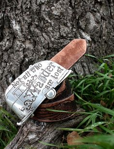 Junk Gypsy not all who wander are lost belt buckle. Pretty much not a want, just a need.