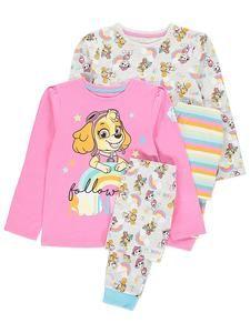 Girls Character Pyjamas Online: Paw Patrol Pyjamas 2 Pack – Novelty-Characters