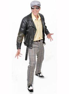 Fantasia de Fantasia Anos 60 Piercings, Moda Emo, New Years Eve Party, Punk, Leather Jacket, Hair Styles, Jackets, Women, 60s Style