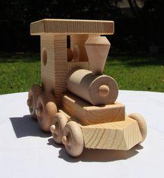 Wooden toy train by ArtTaltonWoodcrafts on Etsy