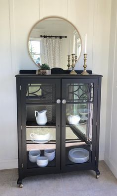 Vanity Painted in Lamp Black | General Finishes Design Center