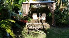 Relax in back garden with a coffee or a glass  of wine