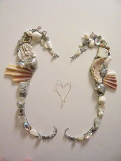 Loving Seahorses framed collage by www.thebarefootbeachcomber.co.uk