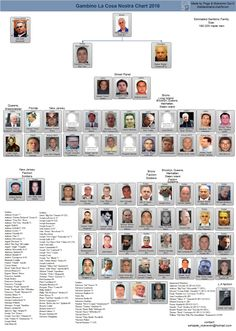 Current Mafia Family Leadership Charts from the families across the country showing hierarchy including bosses down to soldiers. Gangster Quotes, Real Gangster, Mafia Gangster, Mafia Crime, Chicago Outfit, Mob Wives, Mafia Families, The Godfather, True Crime