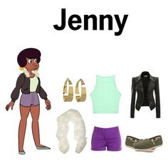 """Steven Universe Jenny"" by theheartknight ❤ liked on Polyvore featuring J.Crew, TOMS and Vince Camuto"