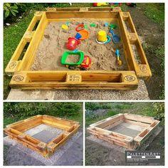 pläne, einen sandkasten für die kinder mit paletten bauen | g art, Hause und garten
