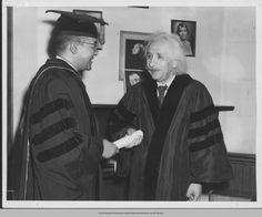 Dr. Horace Mann Bond, President of Lincoln University and Einstein