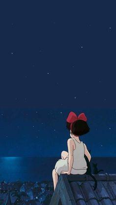 Majo no Takkyūbin Studio Ghibli Art, Studio Ghibli Movies, Animes Wallpapers, Cute Wallpapers, Cartoon Wallpaper, Wallpaper Iphone Disney, Film Animation Japonais, Personajes Studio Ghibli, Studio Ghibli Background