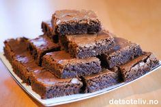 Brownies uten nøtter | Det søte liv