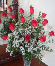 Lovely Red Roses by John Wolf Florist in Savannah, GA #savannah