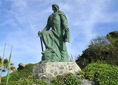 Statue Of Abd Al Rahman I In Almucar Spain Andalusia