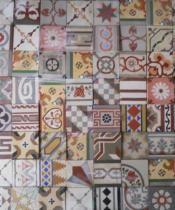 Patterned Tiles Tapas Arranged