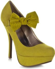 yellow bowed Mary Jane