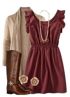 Fall Dress Outfits 2014 Cardigans Cute Fall Outfits