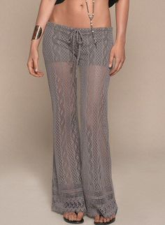 Bohemian-style, lightweight, crocheted drawstring pants with shorts lining, relaxed fit and scalloped detail at hem by L Space Swimwear, $168.00