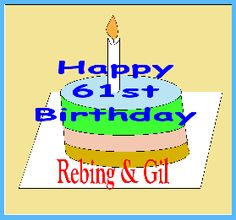 Our synchronous 61st birthday of my beloved wife, Rebing