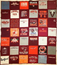 Hokie T-Shirt Quilt!