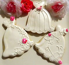 images of decorated cookies | dozen light pink March 20 Decorated Sugar Cookies Shimmer Wedding ...