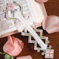 Easter Cross Bookmark Plastic Canvas ePattern